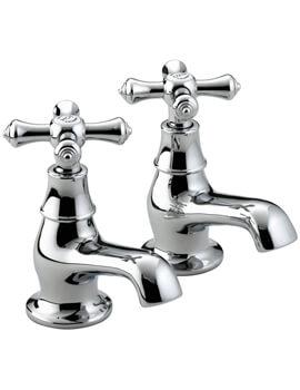 Colonial Chrome Pair Of Bath Taps