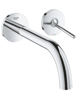 Atrio Two Hole Basin Mixer Tap With Joystick