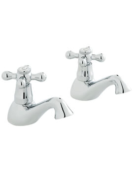 Victoriana Bath Pillar Taps Pair - VIC-136-CD-C-P