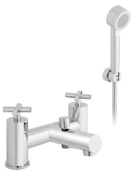 Elements Water 2 Hole Bath Shower Mixer Tap With Shower Kit