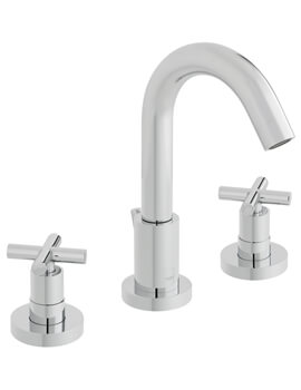 Elements Water Deck Mounted 3 Hole Basin Mixer Tap - ELW-101