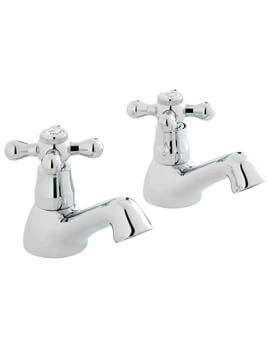Victoriana Basin Pillar Taps Pair - VIC-106-CD-C-P
