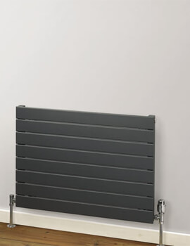 MHS Rads 2 Rails Primrose Single Panel 288mm Height Horizontal Radiator Anthracite