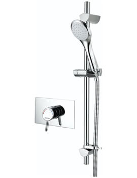 Acute Recessed Shower Valve With Riser Rail
