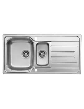 Le Mans 1.5 Bowl 980 x 500mm Stainless Steel Reversible Inset Sink