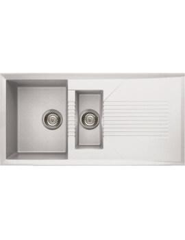 Reginox Tekno 475 1000 x 500mm 1.5 Bowl Inset Kitchen Sink Granitek White