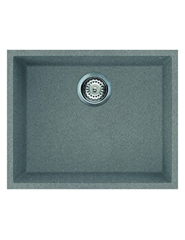 Reginox Quadra Single Bowl Undermount Titanium Sink 540 x 440mm