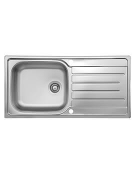 Daytona 1.0 Bowl 1000 x 500mm Stainless Steel Reversible Inset Sink