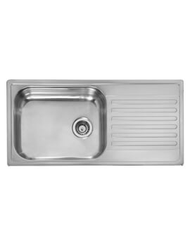 Minister 10 Single Bowl Stainless Steel Inset Sink 1000 x 500mm