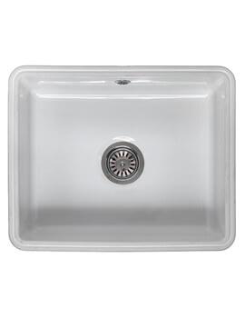 Mataro Single Bowl Ceramic Undermount Kitchen Sink 545 x 440mm