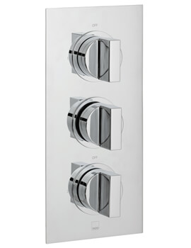 Notion Concealed 2 Outlet 3 Handle Thermostatic Shower Valve