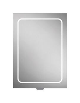 Vapor LED Illuminated 500 x 700mm Aluminium Mirror Cabinet