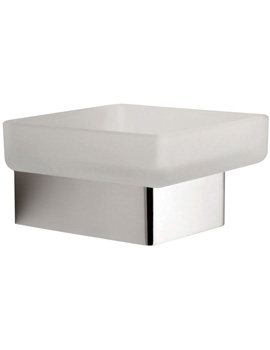 Vado Shama Frosted Glass Soap Dish And Holder