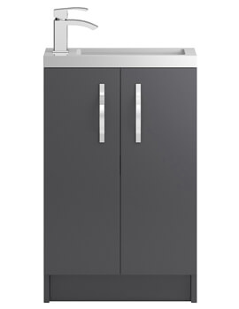 Apollo Slimline Floorstanding 2 Door Compact Cabinet And Basin
