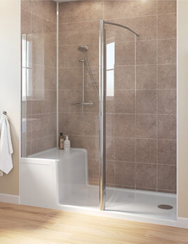 Classic 1500 x 800mm Walk-in Shower Enclosure With Seated Shower Tray