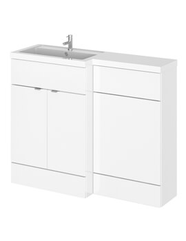 Hudson Reed Fusion 1100mm Full Depth Furniture Pack - Vanity And Wc Unit With Basin - Image