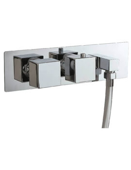 Concealed Dual Function Twin Valve With Outlet Elbow And Square Handle