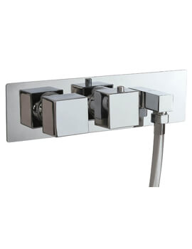Concealed Single Function Twin Valve With Outlet Elbow And Handle
