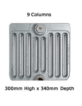 Firenze 9 Column Cast Iron Radiator 300mm High - 6 To 20 Sections