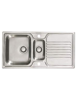 Linate 1.5 Bowl Polished Stainless Steel Reversible Sink