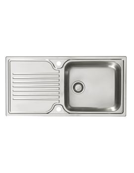 Linate 1.0 Bowl Polished Stainless Steel Reversible Sink