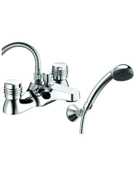 Solerno Deck Mounted Bath Shower Mixer Tap With Kit