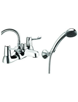 Lever Action Deck Mounted Bath Shower Mixer Tap