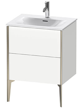 XViu 600mm High Floor Standing Vanity Unit With 2 Pull-out Compartment