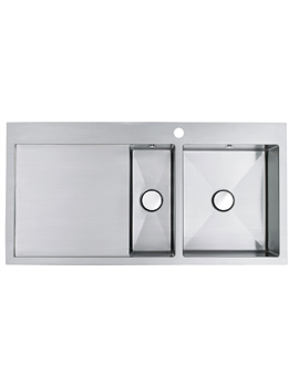 Vantage 1.5 Bowl Brushed Stainless Steel Inset Sink And Tap