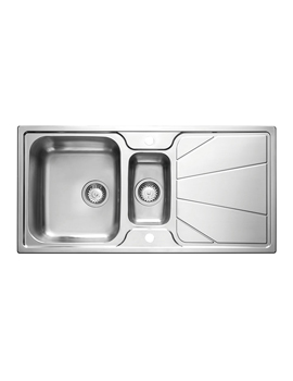 Korona 1.5 Bowl Polished Stainless Steel Inset Sink And Tap