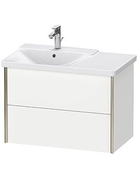 XViu 2 Drawers Vanity Unit Wall-Mounted For P3 Comforts Basin