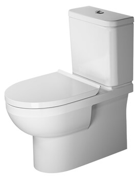 Duravit DuraStyle Basic 650mm Rimless Close Coupled WC With Cistern