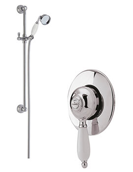 Nostalgic Concealed Manual Shower Valve With Slide Rail Kit