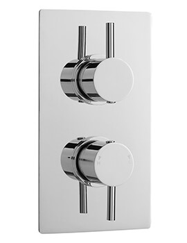 Quest Rectangular Twin Concealed Thermostatic Shower Valve