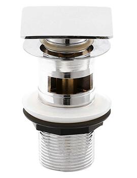 Square Slotted Push Button Basin Waste - EK307