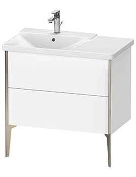 XViu 2 Pull-Out Compartments Vanity Unit Floor-Standing For P3 Comforts Basin