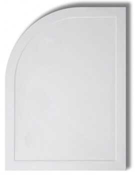 Contemporary Light Weight 45mm Low Profile Offset Quadrant Shower Tray