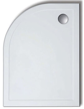 Lakes Low Profile 45mm Offset Quadrant ABS Stone Resin Tray - Image