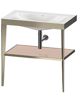 Xviu C Bonded Floor Standing Washbasin With Metal Console