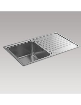 Kohler Hone 800mm Inset Kitchen Sink With Draining Board