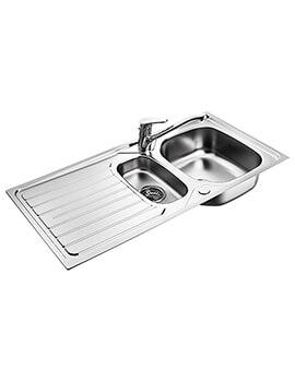 Sandringham 1.5 Bowl Kitchen Sink Pack With Drainer