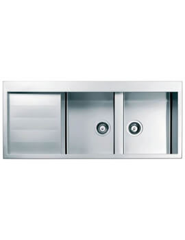 Clearwater Spirito 1160 x 500mm Double Bowl And Drainer