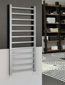 DQ Heating Stalia 500mm Wide Mild Steel Towel Rail