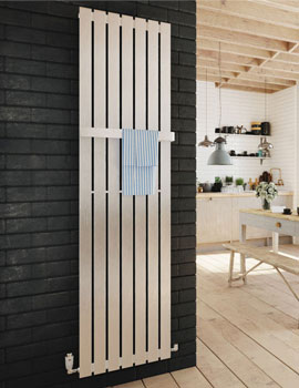 DQ Heating Delta Stainless Steel Vertical Radiator - Image