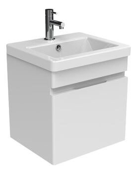Sanuex Air One Door Wall Mounted 400mm Unit With Basin And Waste Trap