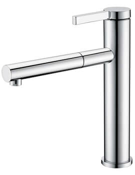 Clearwater Galatea Monobloc Kitchen Sink Mixer Tap With Pull-Out Aerator - Image