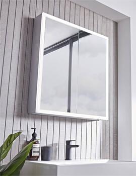 avistock Flex Double Door LED Illuminated Mirror Cabinet