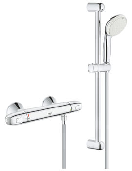 Grohtherm 1000 Thermostatic Bath Shower Mixer With Shower Set