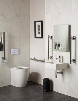 Ideal Standard Concept Freedom Ensuite Bathroom Pack With 400mm Basin And BTW WC