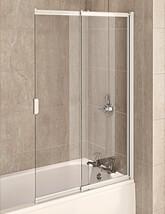 Aqualux Aqua 4 White 2-Panel Slider Bath Screen 820mm - FBS0326AQU